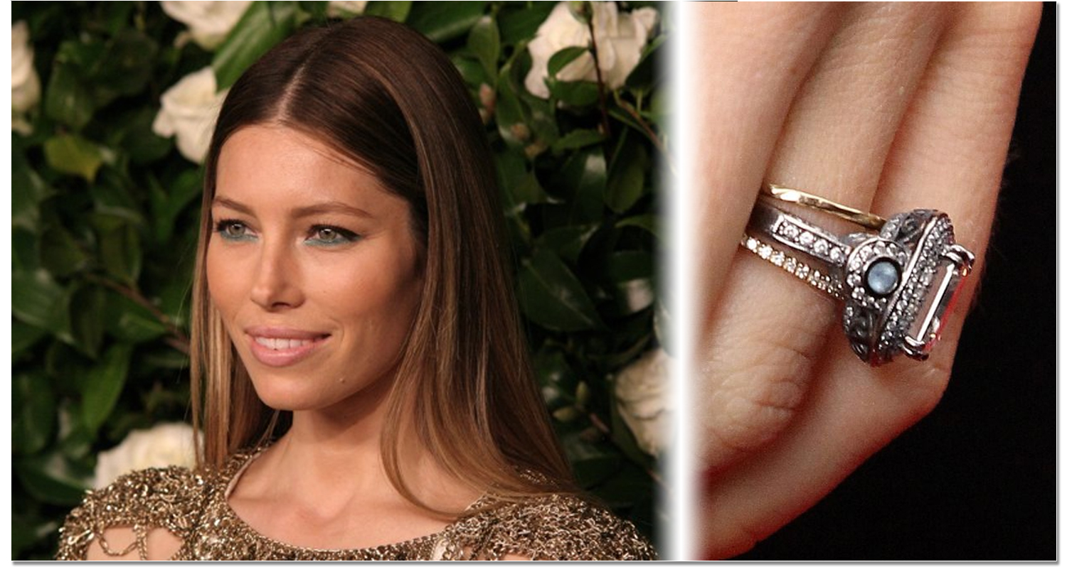 Famous getting the look of celebrity wedding rings timeless jessica biel wedding ring junglespirit Images
