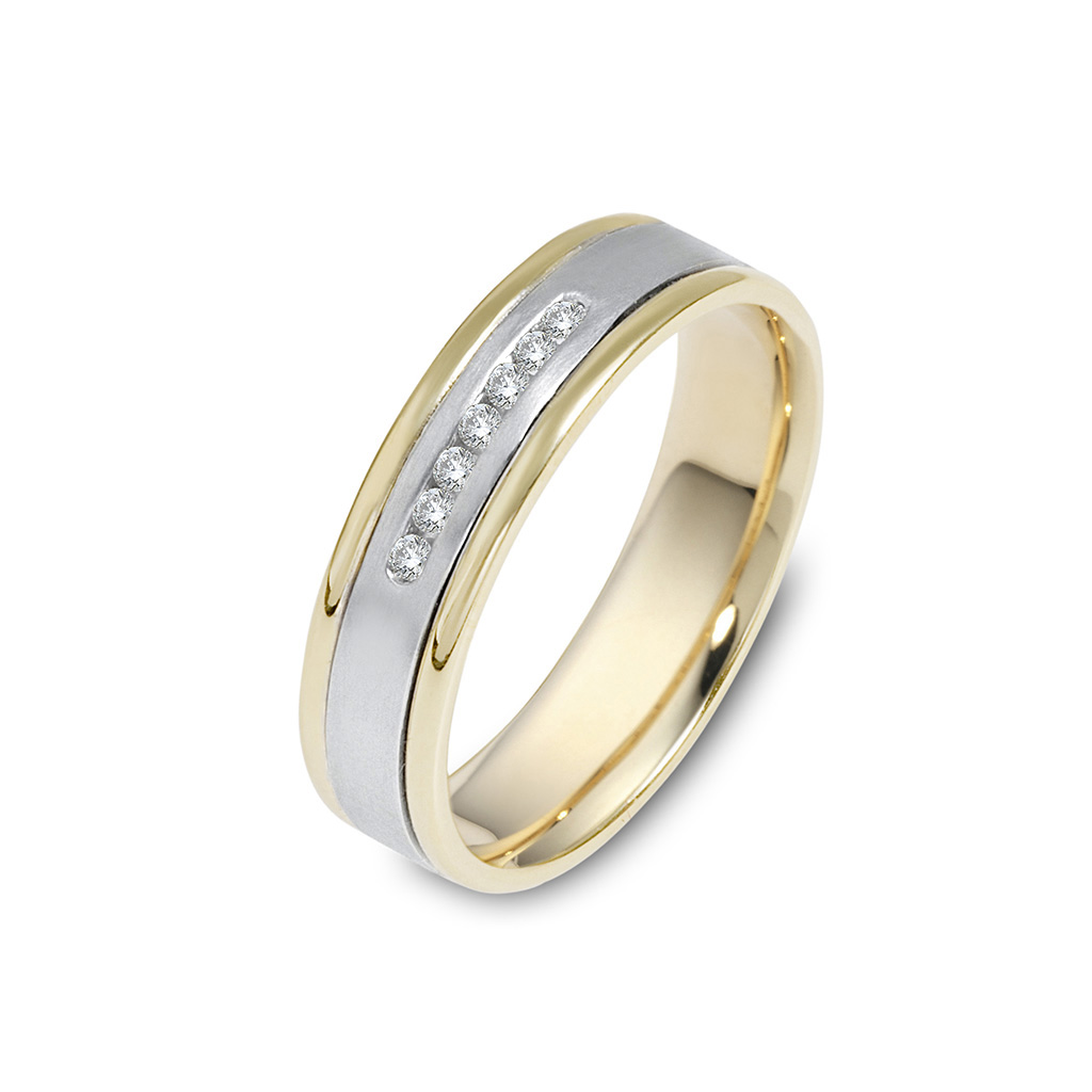 Simplistic Bands: Simple Men's Diamond Wedding Band