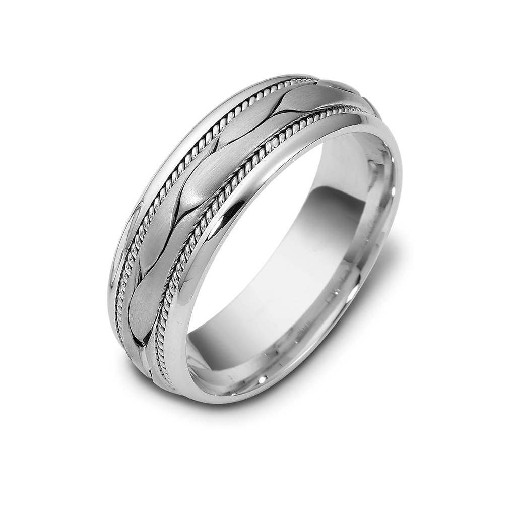 Simplistic Bands: Simple Mesh Wedding Band